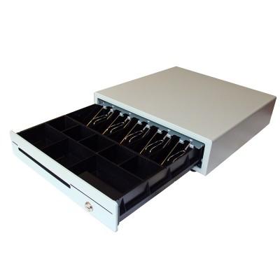 Денежный ящик MAKEN ECD-410W (RJ11-12/24В)