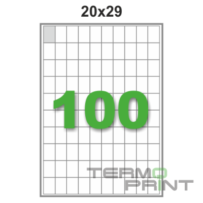 Этикетка (100 шт/лист) 20х29 мм.