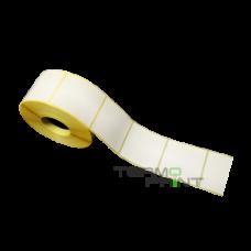 Бумажная этикетка (полуглянец) 70х70 мм квадратная (1000 шт.)