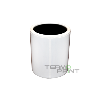 Полимерная этикетка (полипропилен) 80х25 мм прямоугольная (2000 шт.)
