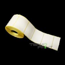 Бумажная этикетка (полуглянец) 58х60 мм прямоугольная (700 шт.)