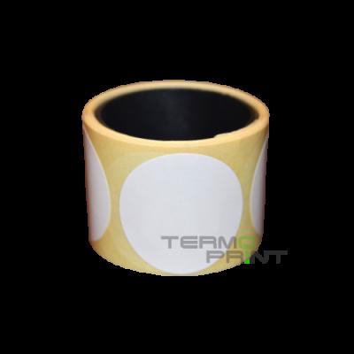 Термоэтикетка ЭКО 40х40 мм круглая (1000 шт.)