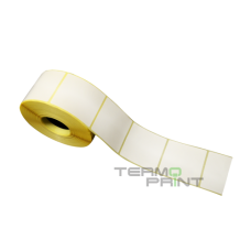 Бумажная этикетка (полуглянец) 28х28 мм квадратная (2000 шт.)