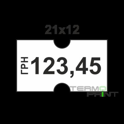 Этикет - лента 21х12мм белая (1000 шт)